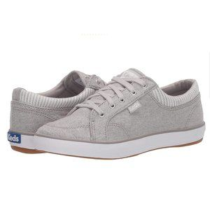 Keds Center Chambray Stripe Gray Sneakers Size 8